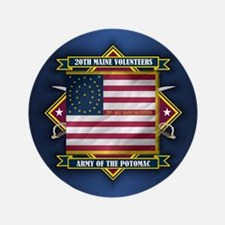 """20th Maine (Diamond).png 3.5"""" Button"""