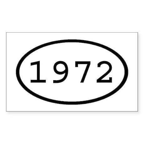 1972 Oval Rectangle Sticker