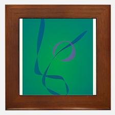 Abstract Rabbit Green Framed Tile