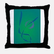 Abstract Rabbit Green Throw Pillow