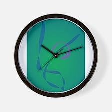 Abstract Rabbit Green Wall Clock