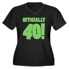 40th Birthda Women's Plus Size V-Neck Dark T-Shirt