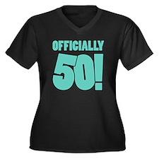 50th Birthda Women's Plus Size V-Neck Dark T-Shirt