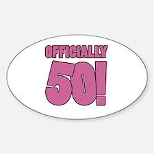 50th Birthday Humor Decal