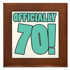 70th Birthday Humor Framed Tile