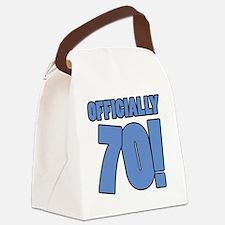 70th Birthday Humor Canvas Lunch Bag