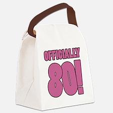 80th Birthday Humor Canvas Lunch Bag