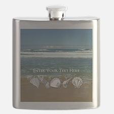 Original Seashell Customizable Art Flask