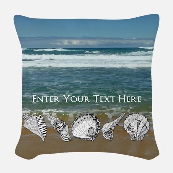 Original Seashell Customizable Woven Throw Pillow
