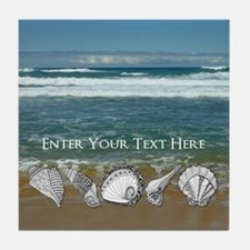 Original Seashell Customizable Art Tile Coaster