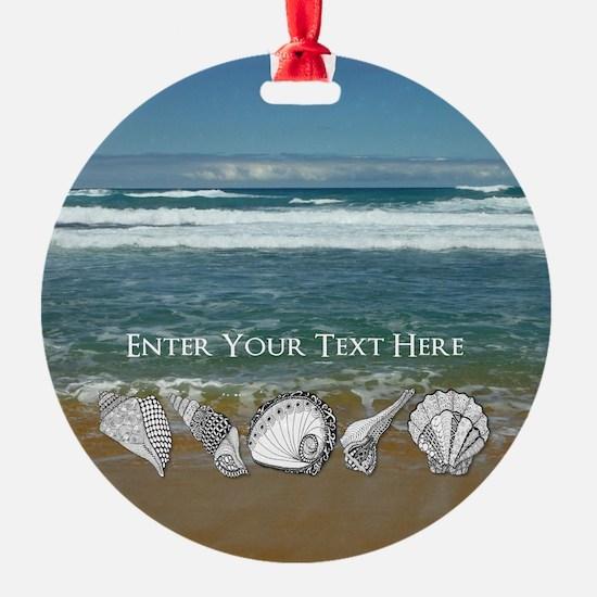 Original Seashell Customizable Art Ornament
