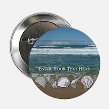 "Original Seashell Customizable Art 2.25"" Button"