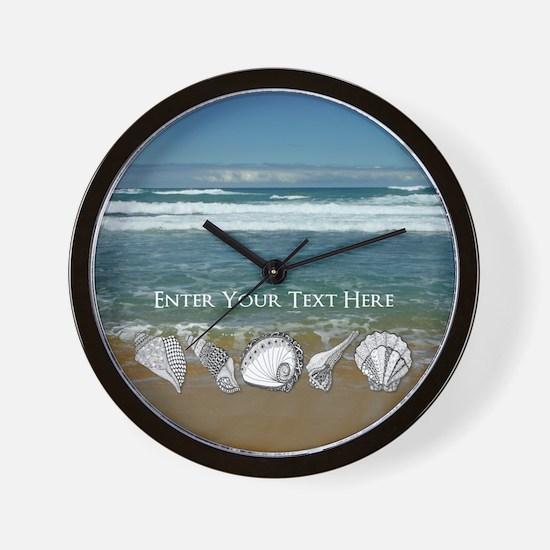 Original Seashell Customizable Art Wall Clock