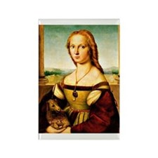 Raphael - Lady with a Unicorn Rectangle Magnet
