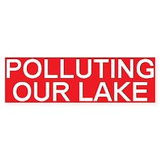 stop polluting lake Bumper Bumper Sticker