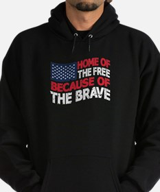 Home Of The Free Because Brave Hoodie