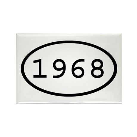 1968 Oval Rectangle Magnet