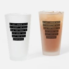 Do Not Argue With An Idiot Drinking Glass