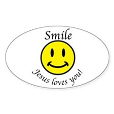 Cute Smile jesus loves you Decal