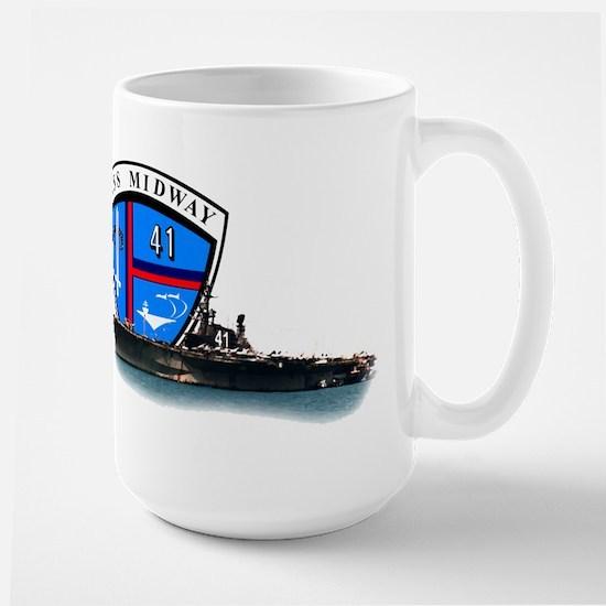 USS Midway CV-41 Large Mug
