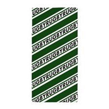 Rugby Stripes green white Beach Towel
