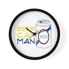 Beer Can Man Wall Clock