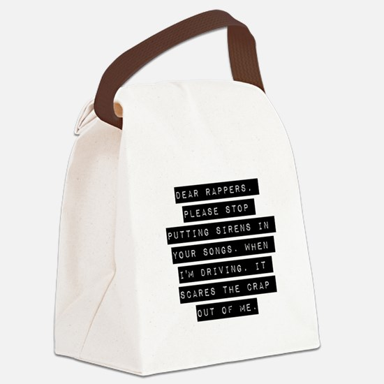 Dear Rappers Canvas Lunch Bag