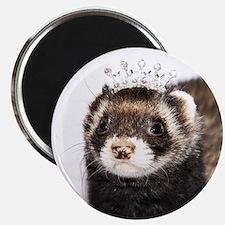 Princess Zoe Ferret Round Magnet