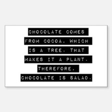 Chocolate Comes From Cocoa Decal