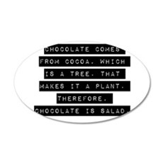 Chocolate Comes From Cocoa Wall Decal