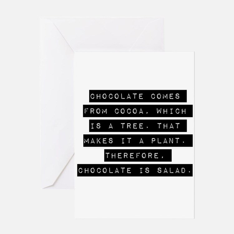 Chocolate Comes From Cocoa Greeting Cards