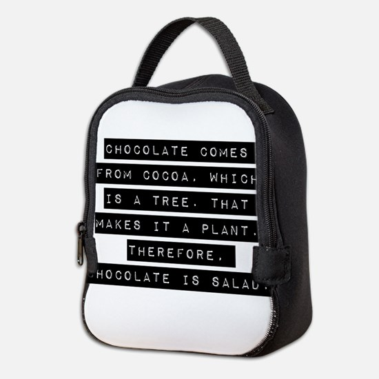 Chocolate Comes From Cocoa Neoprene Lunch Bag