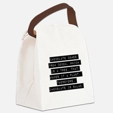 Chocolate Comes From Cocoa Canvas Lunch Bag