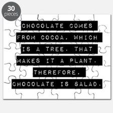 Chocolate Comes From Cocoa Puzzle