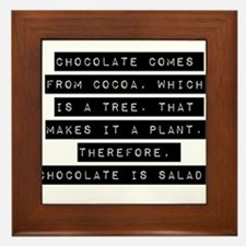 Chocolate Comes From Cocoa Framed Tile
