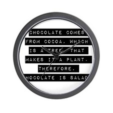 Chocolate Comes From Cocoa Wall Clock