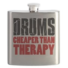 Drums Cheaper Than Therapy Flask