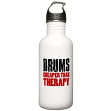 Drums Cheaper Than Therapy Water Bottle
