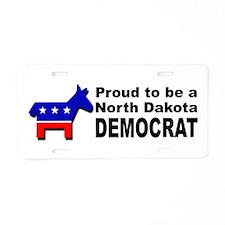 Proud North Dakota Democrat Aluminum License Plate