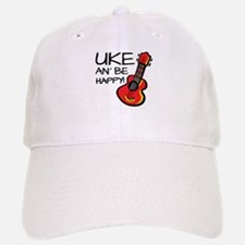 Uke an' be happy! Baseball Baseball Cap