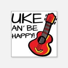 Uke an' be happy! Sticker