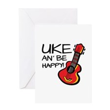 Uke an' be happy! Greeting Cards