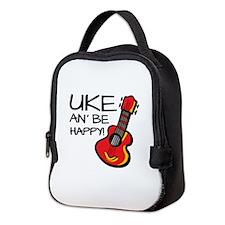 Uke an' be happy! Neoprene Lunch Bag