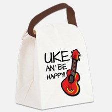 Uke an' be happy! Canvas Lunch Bag