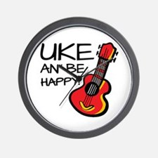 Uke an' be happy! Wall Clock