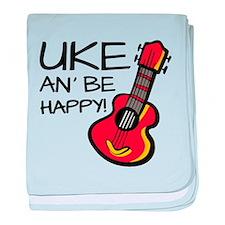 Uke an' be happy! baby blanket
