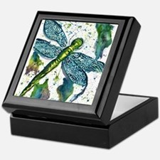 Dragonfly Druzy Keepsake Box