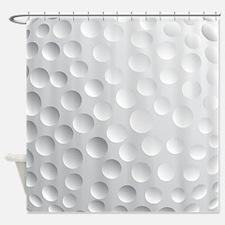 Cool White Golf Ball Texture Golfer Shower Curtai