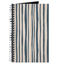 Into The Woods Stripes Blue Journal