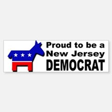 Proud New Jersey Democrat Sticker (Bumper)
